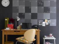 80㎡创意生活用品单身公寓书桌客厅背景墙充满艺术的灰色书房空间装修效果图