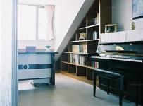 書柜吊頂躍層書桌有趣閣樓為現代書房帶來一點新鮮感效果圖大全