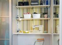 小户型实用开放式书房内嵌式书房衣帽间小隔断设计效果图
