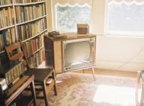 古典咖啡色另類書房裝修效果圖