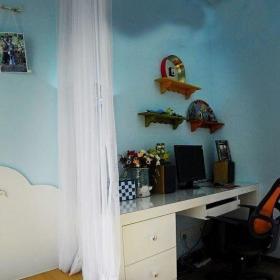 混搭風格三居室10-15萬100平米書房書桌婚房家裝圖效果圖