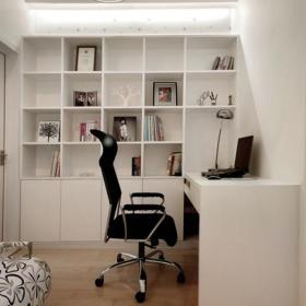 书桌简约书房实拍图装修效果图