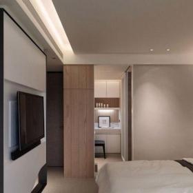 卧室隔断开放式书房现代简约隔断设计效果图
