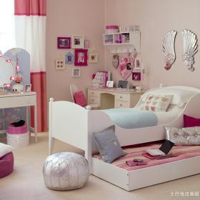 带书房儿童房间布置图片效果图