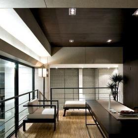 大户型港式风格设计阳台做书房装修效果图