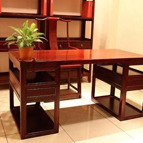 沙发书桌实木家具中式风格书房装修效果图中式红木家具图片