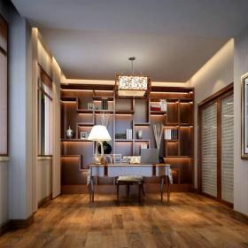 简约中式风格书房装修效果图简约中式风格博古架图片