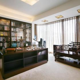 中式新中式书房设计图效果图