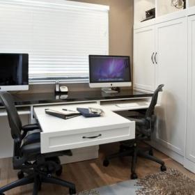 电脑桌小书房电脑椅创意家居书桌书柜现代风格书房装修图片现代风格转椅图片效果图大全