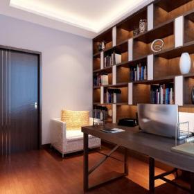 三室兩廳兩衛書柜三居大戶型三室兩廳130平米新中式風格書房吊頂裝修效果圖三室兩廳130平米新中式風格
