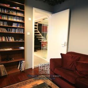 復式書房簡約風格復式富裕型書架圖片效果圖