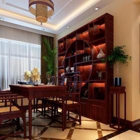 中式书房装修图片 - 实创装饰效果图