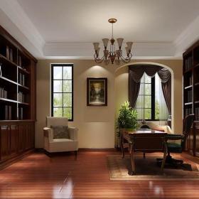 大气时尚的书房装修效果图