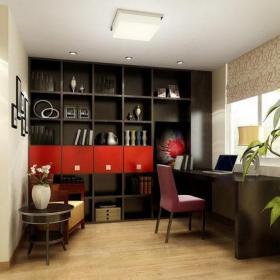小书房灯具家居摆件书柜家具书桌书柜现代风格书房装修效果图现代风格电脑椅图片