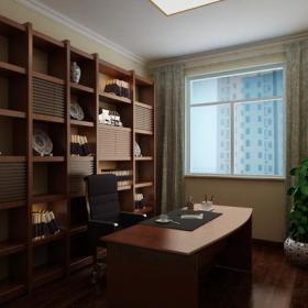 三居窗簾新中式風格書房裝修效果圖