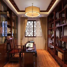 220㎡大户型中式风格书房装修图片中式风格中式博古架图片效果图大全