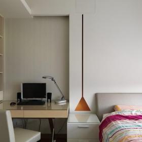 简约小卧室兼书房图片效果图