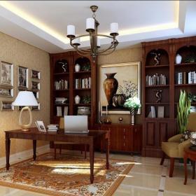 歐式風格(元洲裝飾)歐式風格(元洲裝飾)四居室書房組合柜裝修圖片效果圖大全