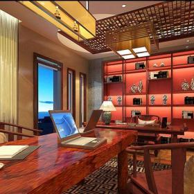 中式风格别墅书房壁纸装修效果图欣赏