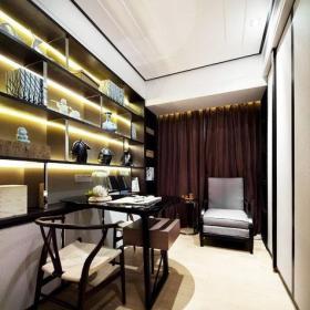 大户型新中式风格大气150平米装修效果图中式书房设计