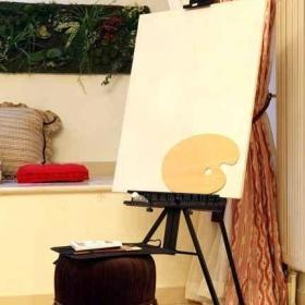 2013新古典风格最新80后书房书架书桌椅子吊灯窗户窗帘装修效果图片