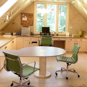 跃层书桌创意生活用品充足空间早就个性书房空间效果图