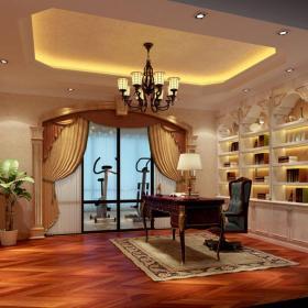 欧式欧式风格书房装修效果展示效果图
