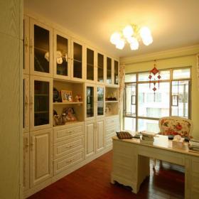 柜子實木書桌儲物柜書柜家具歐式復式樓書桌復式空間小書房家具圖片裝修效果圖
