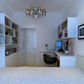 电脑椅书架书柜书桌书柜现代简约风格书房装修效果图现代简约风格墙上置物架图片