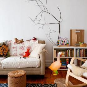 書房書房角落里的閱讀區域效果圖欣賞