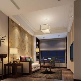 中式风格六居室以上书房窗帘装修效果图欣赏