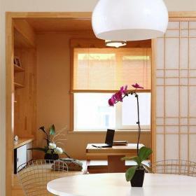 日式混搭中式极简二居室书房榻榻米装修效果图欣赏