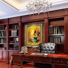 中式古典四居室书房窗帘装修效果图欣赏
