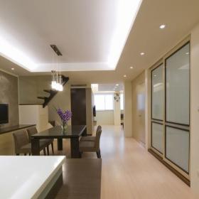 從客廳到餐廳、書房、廚房的通道_1491689效果圖欣賞