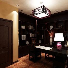 340㎡别墅新中式风格书房装修效果图新中式风格实木家具图片