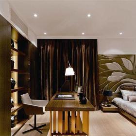 中式風格一居室書房窗簾裝修效果圖大全