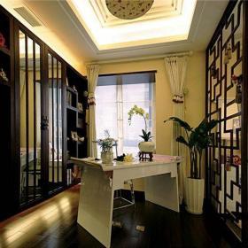 中式风格四居室书房窗帘装修效果图大全