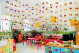 儿童书桌教室布置环境布置主题墙儿童书桌幼儿园教室布置简约风格幼儿园主题墙装修图片装修效果图