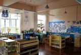 储物柜教室布置环境布置厕所门工装简约风格幼儿园教室布置图片效果图