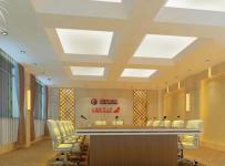 公司会议室吊顶装饰案例效果图
