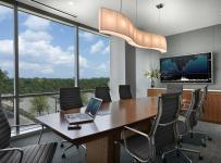 會議椅辦公樓布置辦公家具寫字樓簡約公共空間工裝會議室簡潔寬敞的辦公樓設計效果圖大全