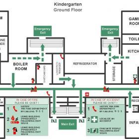 幼兒園平面圖示效果圖