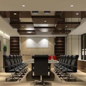 大型会议室布置效果图