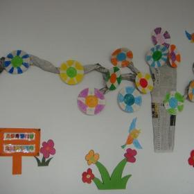 手工藝品環境布置主題墻廁所門工裝現代風格幼兒園主題墻設計圖片效果圖