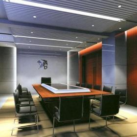 公司会议室室内装潢设计效果图