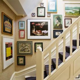 美式幼兒園樓梯布置圖片欣賞效果圖