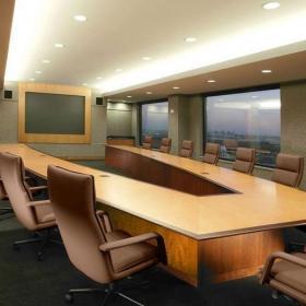 公司會議室室內設計圖案例效果圖