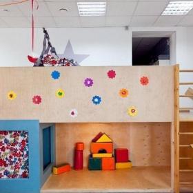 高档幼儿园环境布置游乐房间图片效果图