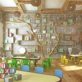 现代风格幼儿园墙壁装饰图片装修效果图