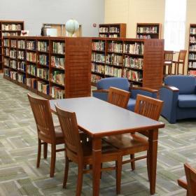 學校圖書館效果圖片